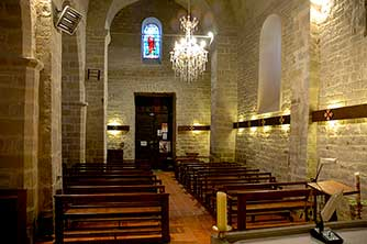 Inside Saint Martin's church